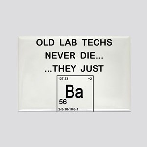 Old Lab Techs Rectangle Magnet