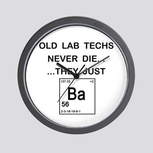 Old Lab Techs Wall Clock