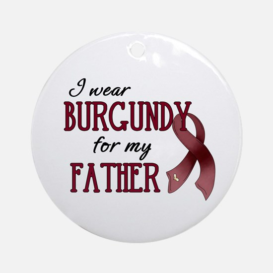 Wear Burgundy - Father Ornament (Round)