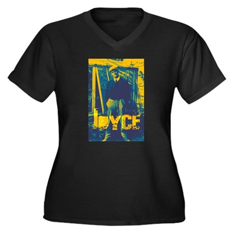James Joyce Women's Plus Size V-Neck Dark T-Shirt