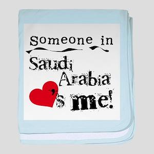 Saudi Arabia Loves Me Infant Blanket