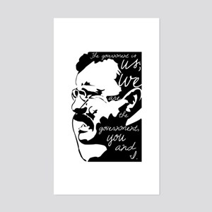 Teddy Roosevelt quote Sticker (Rectangle)