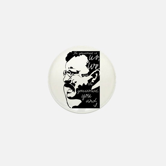 Teddy Roosevelt quote Mini Button