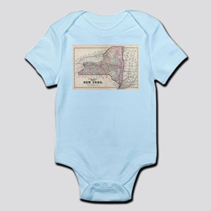 Vintage Map of New York (1873) Body Suit