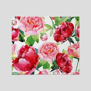 Fabulous Flowers Throw Blanket