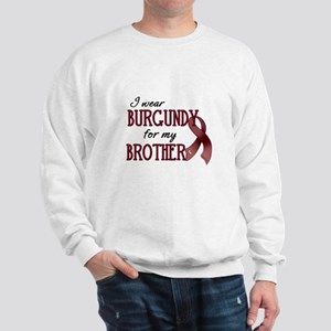 Wear Burgundy - Brother Sweatshirt