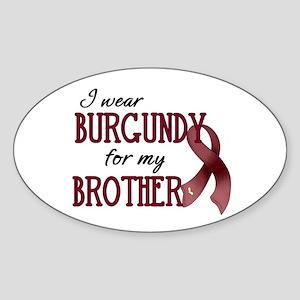 Wear Burgundy - Brother Sticker (Oval)