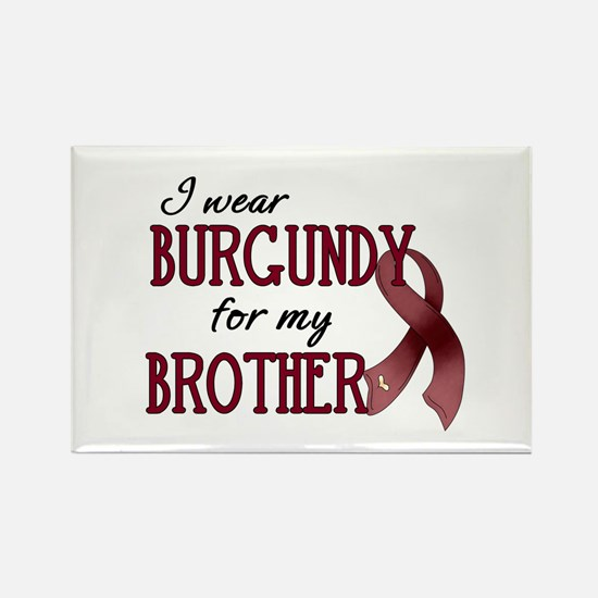Wear Burgundy - Brother Rectangle Magnet