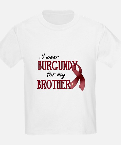 Wear Burgundy - Brother T-Shirt