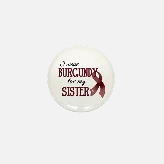 Wear Burgundy - Sister Mini Button