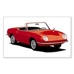 Fiat 850 Spider Rectangle Sticker