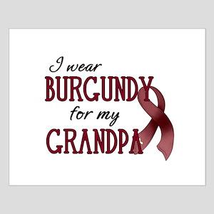 Wear Burgundy - Grandpa Small Poster