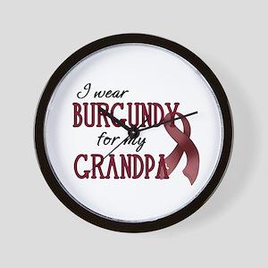 Wear Burgundy - Grandpa Wall Clock