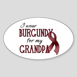 Wear Burgundy - Grandpa Sticker (Oval)