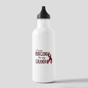 Wear Burgundy - Grandpa Stainless Water Bottle 1.0