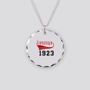 Awesome Since 1923 Birthday Necklace Circle Charm