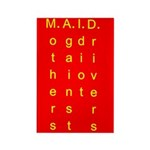 MAID..... Rectangle Magnet (100 pack)