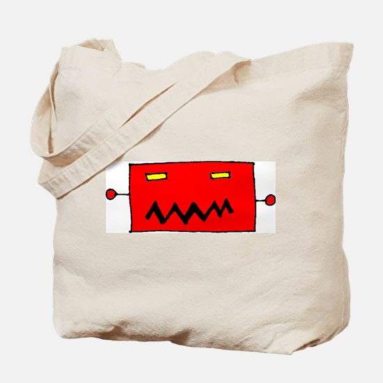 Big Robot Head Tote Bag