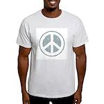 Urban Peace Sign - faded blue Ash Grey T-Shirt