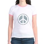 Urban Peace Sign - faded blue Jr. Ringer T-Shirt
