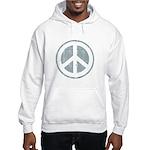 Urban Peace Sign - faded blue Hooded Sweatshirt