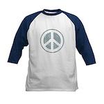 Urban Peace Sign - faded blue Kids Baseball Jersey