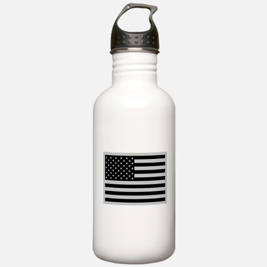 Subdued US Flag Tactical Water Bottle