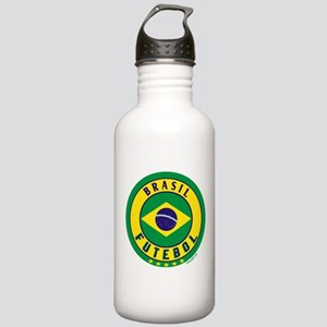 Brasil Futebol/Brazil Soccer Stainless Water Bottl