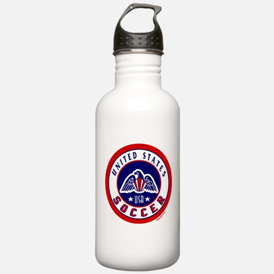 USA United States Soccer Water Bottle