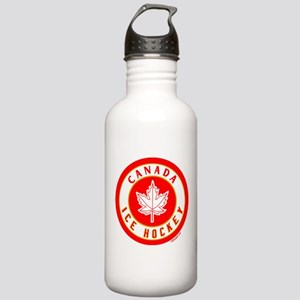 CA Canada Ice Hockey Gold Stainless Water Bottle 1
