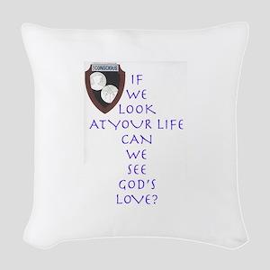 GOD's Love Woven Throw Pillow