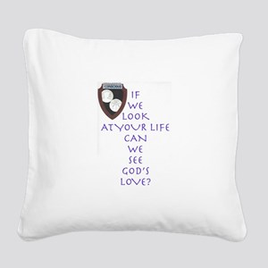 GOD's Love Square Canvas Pillow