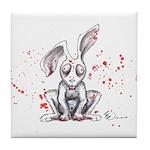 Undead Bunny Tile Coaster