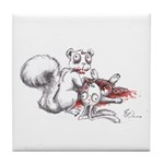 Zombie Squirrel Tile Coaster