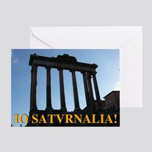 Io! Saturnalia! Greeting Card
