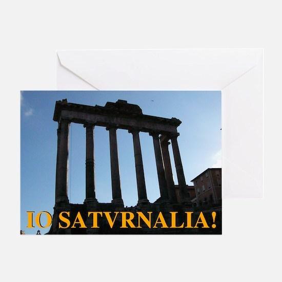 Io! Saturnalia! Greeting Card