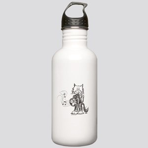 CatoonsT French Horn Cat Stainless Water Bottle 1.
