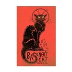 Basement Cat Mini Poster Print