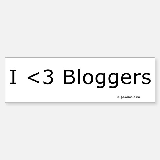 I <3 bloggers Bumper Bumper Bumper Sticker