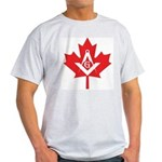 Masonic Canadian Maple Leaf Ash Grey T-Shirt