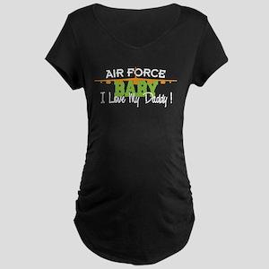 Air Force Baby Maternity Dark T-Shirt