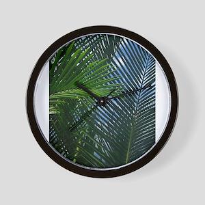 Sago Palm Fronds Wall Clock