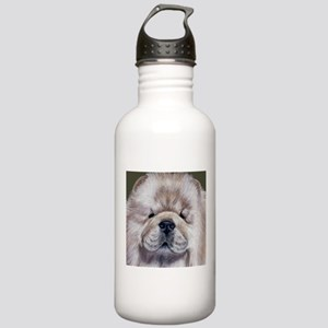 Cream Chow Chow Stainless Water Bottle 1.0L