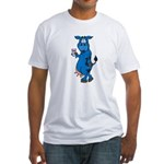 Blue Cow Fitted T-Shirt