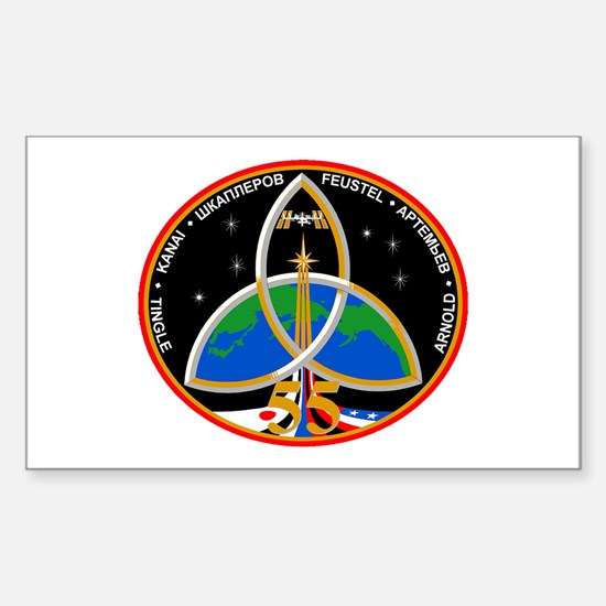Expedition 55 Logo Sticker (Rectangle)