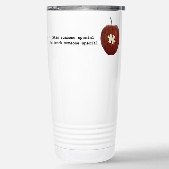 Autism Teacher Stainless Steel Travel Mug