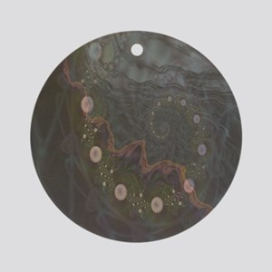 Midnight Bubbles Fractal Ornament (Round)