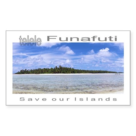 Tuvalu Sticker (Rectangle 10 pk)
