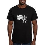 RIP Skeleton Men's Fitted T-Shirt (dark)