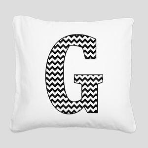 Black and White Chevron Letter G Monogram Square C